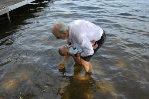 Mike baptizing Orlando
