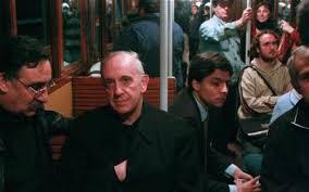 pope on subway